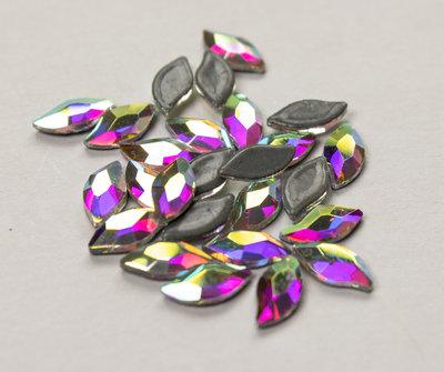 Blaadje 8 mm Crystal AB Hotfix Rhinestones Superior kwaliteit