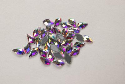 Bolle Druppel met Punt 9 mm Crystal AB Hotfix Rhinestones Superior kwaliteit