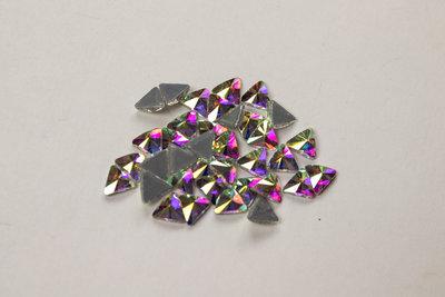 Driehoekje 6 mm Crystal AB Hotfix Rhinestones Superior kwaliteit