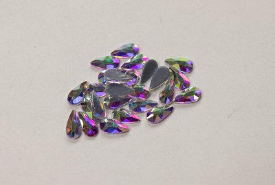Druppel 6x3 mm Crystal AB Hotfix Rhinestones Superior kwaliteit