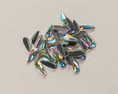 Druppel Smal 6 mm Crystal AB Hotfix Rhinestones Superior kwaliteit