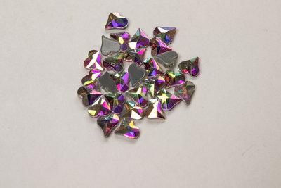Ongelijk Hartje 6 mm Crystal AB Hotfix Rhinestones Superior kwaliteit
