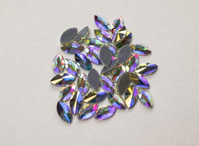 Puntig Oog 8 mm Crystal AB Hotfix Rhinestones Superior kwaliteit