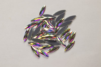 Rijstkorrel 11 mm Crystal AB Hotfix Rhinestones Superior kwaliteit
