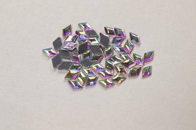 Ruitje 7 mm Crystal AB Hotfix Rhinestones Superior kwaliteit