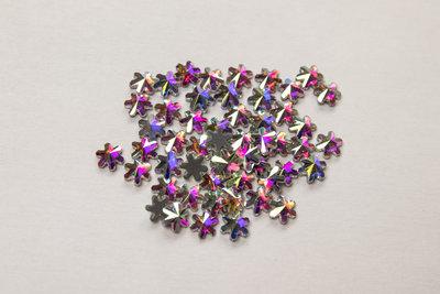 Sterbloemetje 4 mm Crystal AB Hotfix Rhinestones Superior kwaliteit