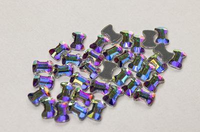 Strikje 5 mm Crystal AB Hotfix Rhinestones Superior kwaliteit