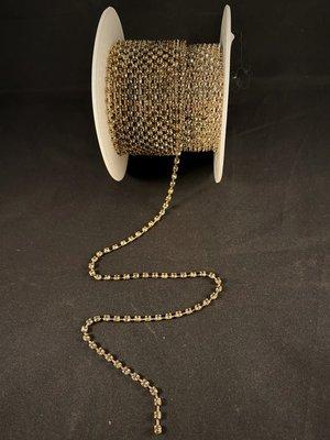 Strassketting 3 mm Black Diamond - Silver Cup
