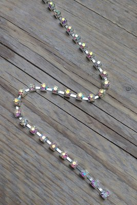Strassketting 5 mm Crystal AB - Silver Cup