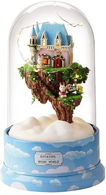 Mini Dollhouse - Draaiende muziekdoos - Dream of Sky