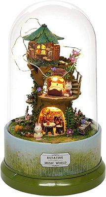 Mini Dollhouse - Draaiende muziekdoos - The Forest Whim