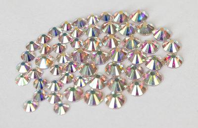 Crystal AB SS 12 Superior Glamour kwaliteit non-hotfix plakstenen