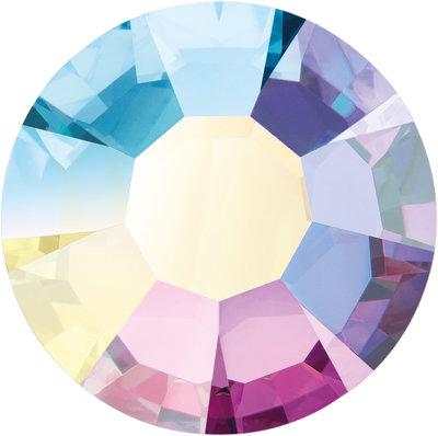 Preciosa Rivets silver - Crystal AB 00030 (SS18)