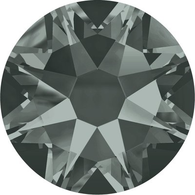 Swarovski hotfix steentjes kleur Black Diamond (215) SS16