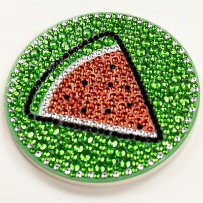 Diamond Painting Onderzetter - Groen met Watermeloen
