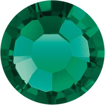 Preciosa Rivets silver - Emerald 50730 (SS29 - SS34)