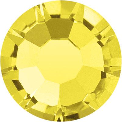 Preciosa Rivets silver - Citrine 80310 (SS29 - SS34)