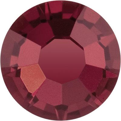 Preciosa Rivets silver - Burgundy 90100 (SS29 - SS34)