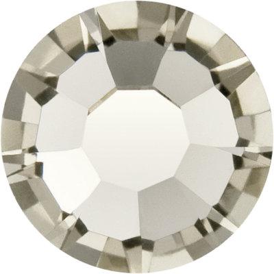 Preciosa Rivets silver - Black Diamond 40010 (SS29 - SS34)