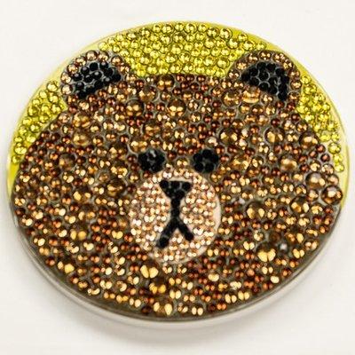 Diamond Painting Onderzetter - Geel met bruine beer