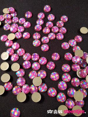 Hotfix Epoxy 8 mm Kleur Egaal Paars