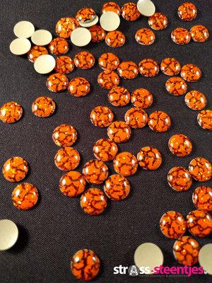 Hotfix Epoxy 8 mm Kleur Tijger Oranje