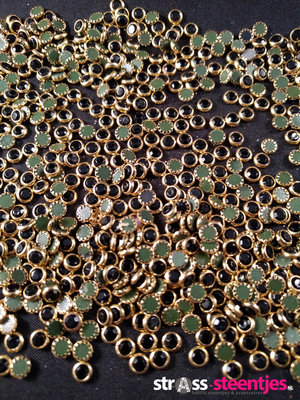 Hotfix Trim SS 16 Kleur Goud-Zwart