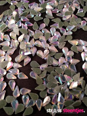 Hotfix Rhinestones Druppel Crystal AB DMC