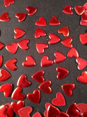 Hotfix Nailheads Kleur Rood hart
