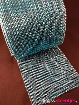 Non hotfix mesh rol Kleur Licht blauw