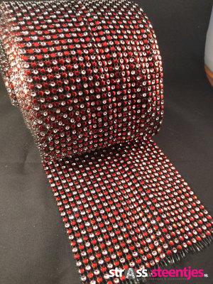 Non hotfix mesh rol Kleur Rood - Crystal