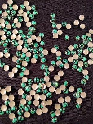 Hotfix Epoxy 4 mm Kleur Tijger Licht Groen
