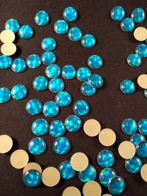 Hotfix Epoxy 8 mm Kleur Egaal Blauw