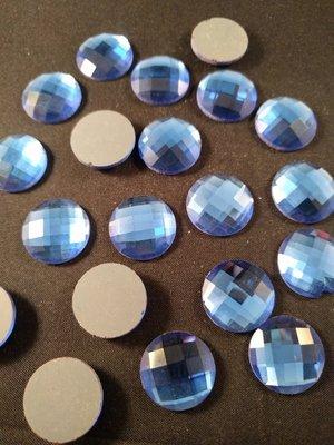 Non hotfix plakstenen Kleur Blauw 18 mm