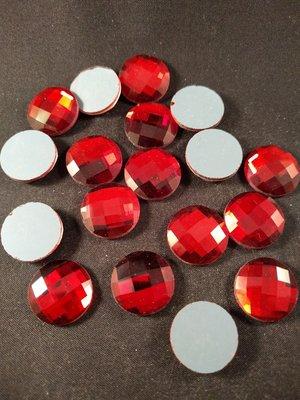 Non hotfix plakstenen Kleur Rood 18 mm
