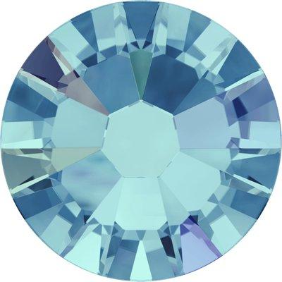 Swarovski hotfix steentjes kleur Aquamarine AB (202AB) SS16