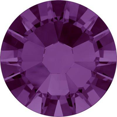 Swarovski hotfix steentjes kleur Amethyst AB (204 AB) SS20