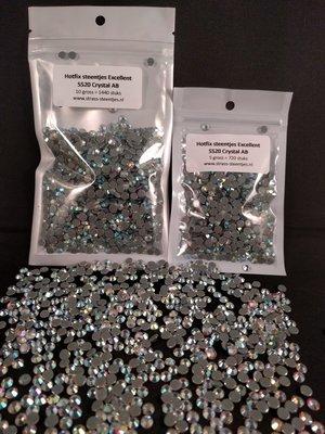 Hotfix steentjes Excellent kwaliteit SS 20 Kleur Crystal AB ACTIE OP=OP