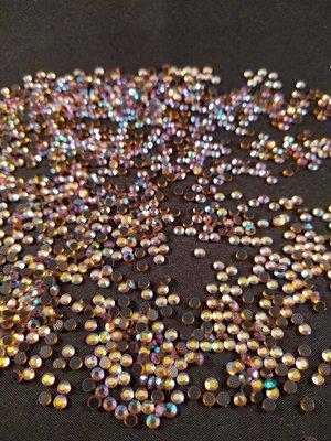 Gold AB SS 10 Premium DMC kwaliteit Hotfix steentjes