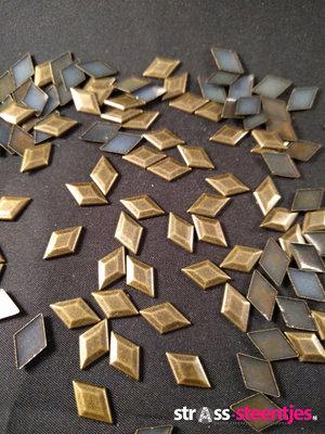 Hotfix Studs Figuur Ruit 13 mm Kleur Brons
