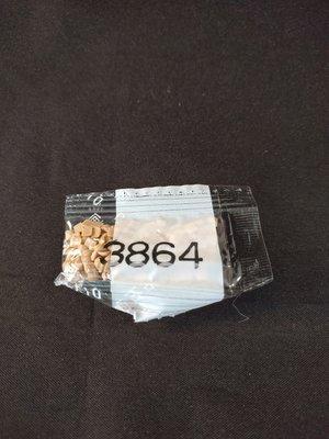 Diamond Painting - Losse vierkante steentjes kleurcode 3864
