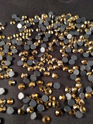 Gold SS 6 Premium DMC kwaliteit Hotfix steentjes