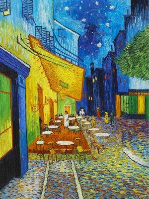 Diamond Painting pakket - Van Gogh Cafeterras bij nacht 30x40 cm (full)