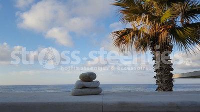 Diamond Painting pakket - Stenen voor een palmboom 40x70cm (full)