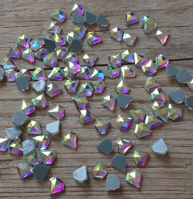 Diamantje 7 mm Crystal AB Hotfix Rhinestones Superior kwaliteit