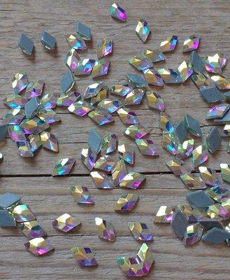 Ruitje 10 mm Crystal AB Hotfix Rhinestones Superior kwaliteit