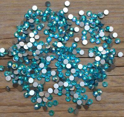 Aquamarine AB SS 16 Excellent Austrian kwaliteit non-hotfix plakstenen