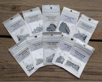 Kleurenpakket Black & White - Small (SS6 en SS10) - Premium DMC kwaliteit Hotfix