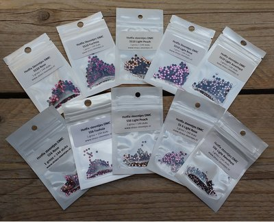 Kleurenpakket Pink - Small (SS6 en SS10) - Premium DMC kwaliteit Hotfix