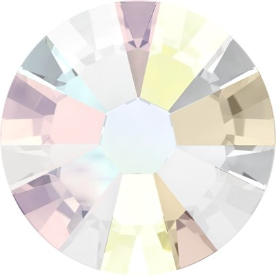 Swarovski hotfix steentjes kleur Crystal ab (001AB) SS6